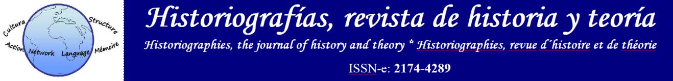 Historiografías, revista de historia y teoría.