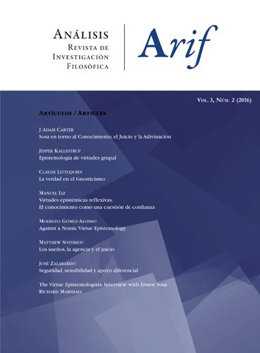 Análisis. Revista de investigación filosófica. Vol 3 (nº2), 2016