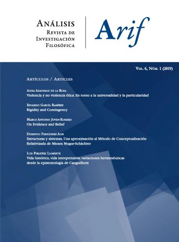 Ver Vol. 6 Núm. 1 (2019): Análisis. Revista de investigación filosófica