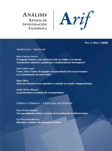 Ver Vol. 7 Núm. 1 (2020): Análisis. Revista de investigación filosófica