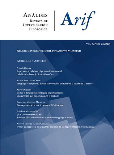 Ver Vol. 7 Núm. 2 (2020): Número monográfico: pensamiento y lenguaje