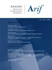 Ver Vol. 2 Núm. 2 (2015): Análisis. Revista de investigación filosófica. Issue on Early German Romanticism